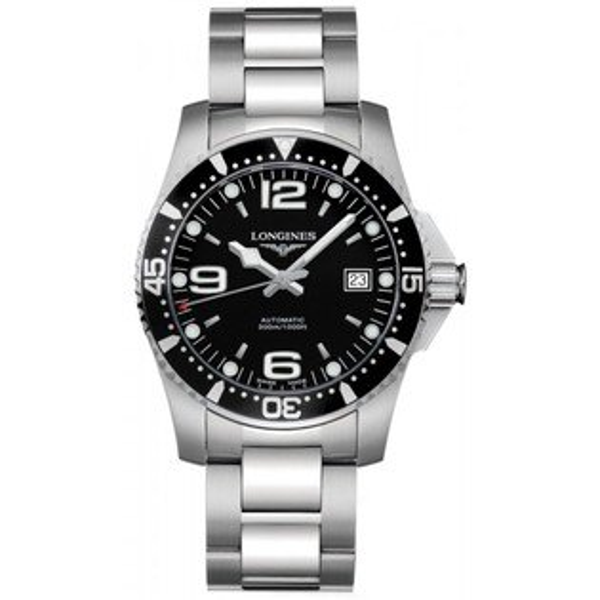 LONGINES L36424566深海征服者潛水經典面機械腕錶/黑面黑圈41mm