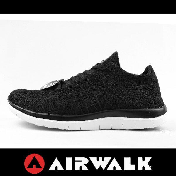 萬特戶外運動 AIRWALK A612255120 AIRWALK 編織透氣運動慢跑鞋 編織 NIKE FREE 4.0 男女尺寸 情侶鞋 健身 百搭 黑