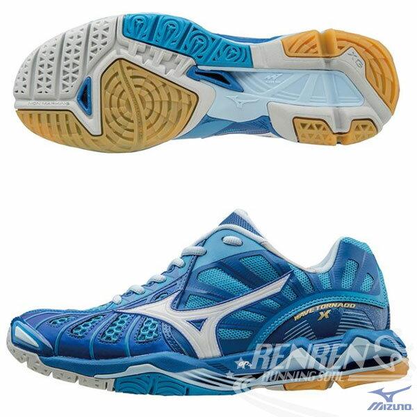 MIZUNO 美津濃 WAVE TORNADO X  頂級排球鞋  (藍)