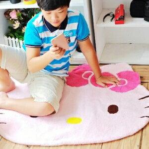 美麗大街【104070414】Hello Kitty造型粉紅色大型絨毛地毯 地墊