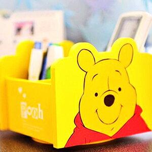 美麗大街【104110109】小熊維尼 旋轉式桌上文具收納櫃 收納盒