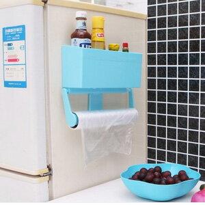 美麗大街【BF566E23E826】多功能保鮮膜收納盒冰箱置物架廚房紙巾架