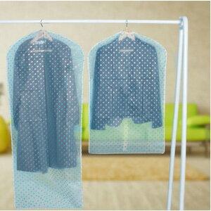 美麗大街【BF174E13E879】透明加厚防水衣服防塵罩掛衣袋可水洗(圓點款中號)
