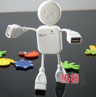 美麗大街【BF406834】小人型機器人一分四USB延長線/USB HUB分線器