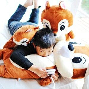 美麗大街【S101121711】卡通花栗鼠奇奇蒂蒂造型特大隻長型抱枕