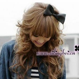 美麗大街【E309】綢緞蝴蝶結髮飾髮夾