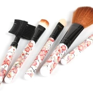 美麗大街【BFG20E1E3E2】花朵 彩妝五件套刷具組