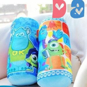 美麗大街【102071104】怪獸電力公司藍色毛怪大眼怪造型12吋小隻圓筒抱枕