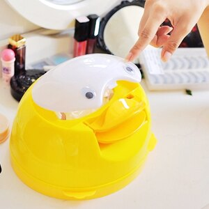 美麗大街【10209074】黃色企鵝造型面紙套面紙盒