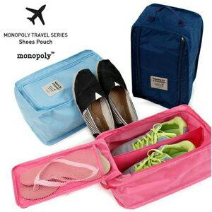 美麗大街【BFL07E4E16EK90】韓國Monopoly 旅行收納防水透氣鞋袋鞋盒