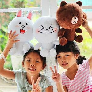 美麗大街【103050109】超夯表情公仔饅頭人兔兔熊大系列坐姿款娃娃玩偶