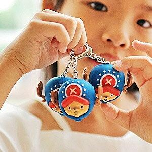 美麗大街【103051005】航海王 海賊王喬巴兩年後大頭造型會出聲發光小燈鑰匙圈