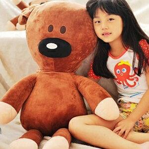 美麗大街【10306090101】豆豆先生好朋友泰迪小熊25吋抱枕玩偶