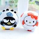 美麗大街【103092503】Hello Kitty酷企鵝瘋世足 可愛足球印花造型圓型球狀抱枕