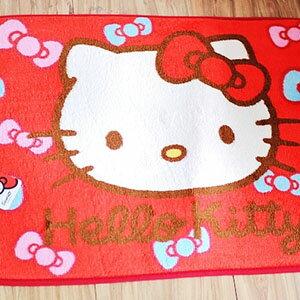 美麗大街【103100807】Hello Kitty大頭蝴蝶結系列浴室腳踏地毯 地墊