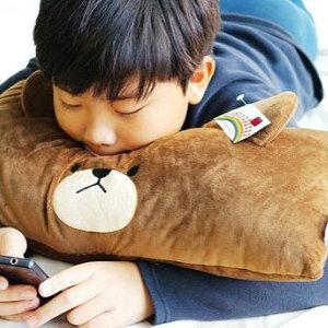 美麗大街【104013011】the Bear's school 上學熊 小熊學校 大臉造型長型抱枕