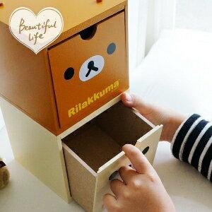 美麗大街【104020951】拉拉熊茶熊奶熊懶熊大頭小物桌面木製積木收納箱