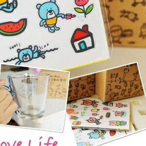 美麗大街【104020959】台南小西門 x P714超可愛動物星球 DIY創意貼紙風格馬克杯