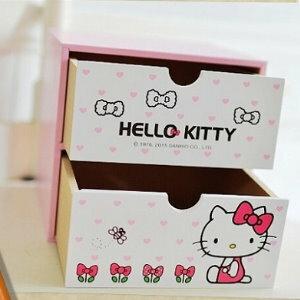 美麗大街【104041515】HELLO KITTY  2格造型收納箱 置物櫃 櫃子