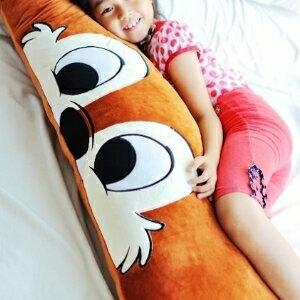 美麗大街【104051705】卡通花栗鼠奇奇造型1號長型抱枕雙人枕