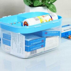 美麗大街【BFA49E5E21】加厚透明家庭用多功能妝台收納箱藥箱