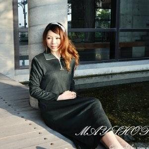 衫皇衫家【UF010444】甜美條紋幾何娃娃裝/大尺碼洋裝/孕婦裝/長袖洋裝(隨機出貨)