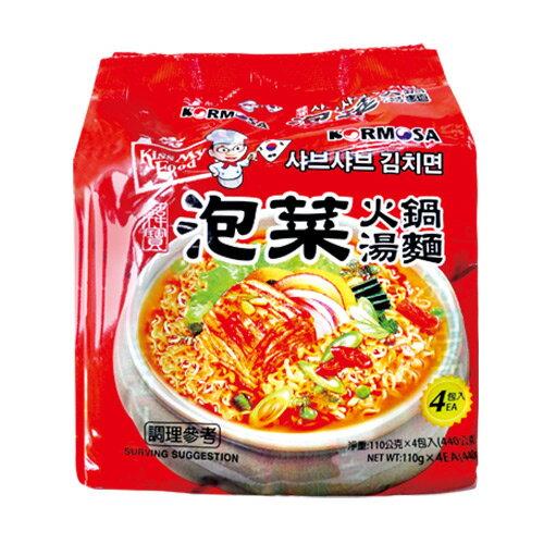 韓寶泡菜火鍋湯麵/韓國泡麵/拉麵(四包一袋) - 限時優惠好康折扣