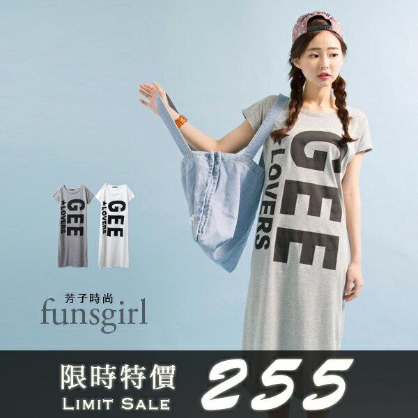 GEE圓領長版上衣2色~funsgirl芳子時尚【B510034】