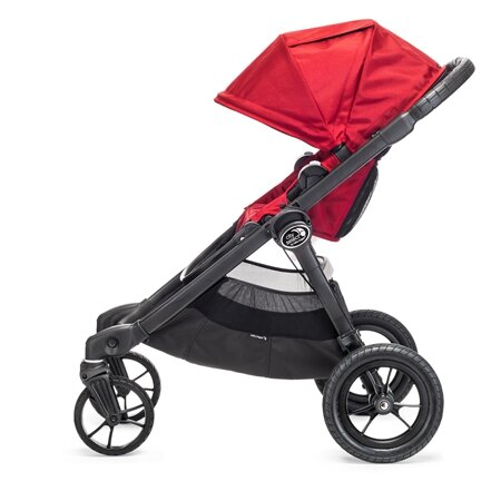 美國【Baby Jogger】City Select 四輪嬰兒推車 (黑管紅) 1