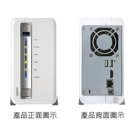 *╯新風尚潮流╭* QNAP網路儲存設備 NAS網路系統伺服器 內裝2Tx2硬碟 TS-251C-0202N-01