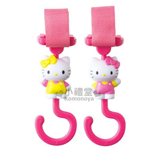〔小禮堂〕Hello Kitty 多用途掛勾《2入.站姿.招手》汽車.娃娃車皆適用