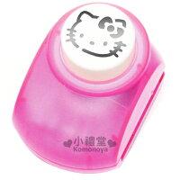 美樂蒂My Melody周邊商品推薦到〔小禮堂〕Hello Kitty 造型打洞機《粉紅.大臉》造型可愛