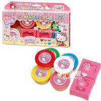 凱蒂貓週邊商品推薦到〔小禮堂嬰幼館〕Hello Kitty 黏土模具組《粉.6色入.大臉》適合3歲以上孩童