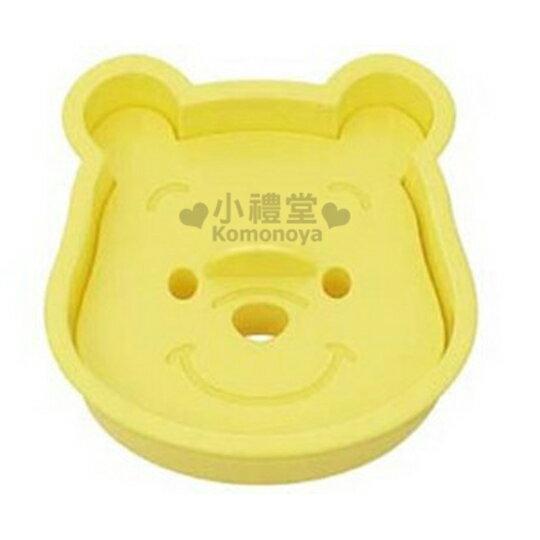 〔小禮堂〕小熊維尼 日製吐司切模《黃.大臉》DIY做餅乾好吃又好玩