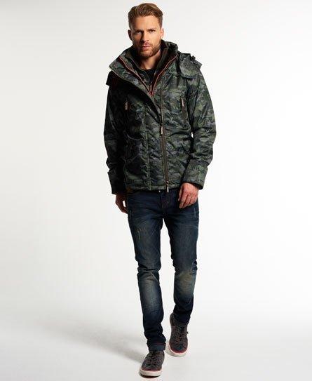 [男款]英國名品代購 極度乾燥 Superdry Arctic Wind Attacke男士防水防風戶外休閒外套夾克風衣 迷彩綠 1