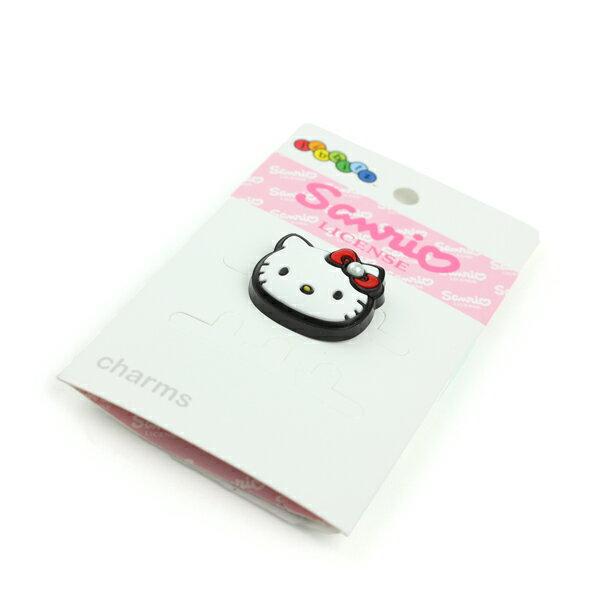 Crocs Hello Kitty 凱蒂貓 鞋扣 白 noB04