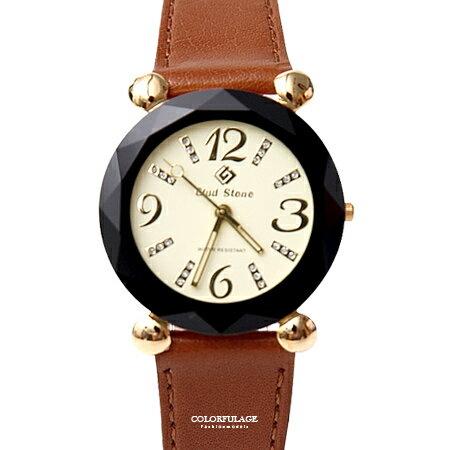 手錶 多角度切割真皮腕錶 柒彩年代【NE1921】單支 - 限時優惠好康折扣