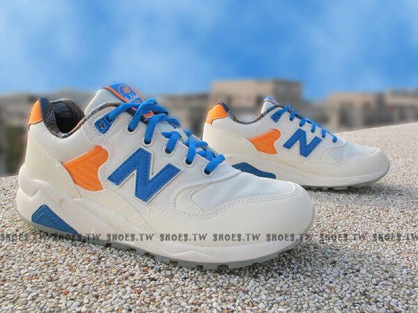 [24cm]《超值68折》Shoestw【MRT580GG】NEW BALANCE 復古慢跑鞋 米白藍 女生尺寸