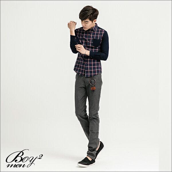 ☆BOY-2☆ 【NQ97011】長袖襯衫大格紋撞色口袋 4