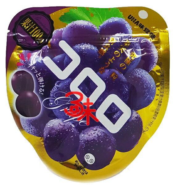 (日本) UHA コロロ 味覺糖 Kororo葡萄軟糖-紫葡萄 1組 6包 ( 40公克*6包) 特價 345 元 (平均1包 53.3元) 最新到櫃【 4902750633155】( 味覺可洛洛Q糖 KORORO極鮮QQ軟糖 )