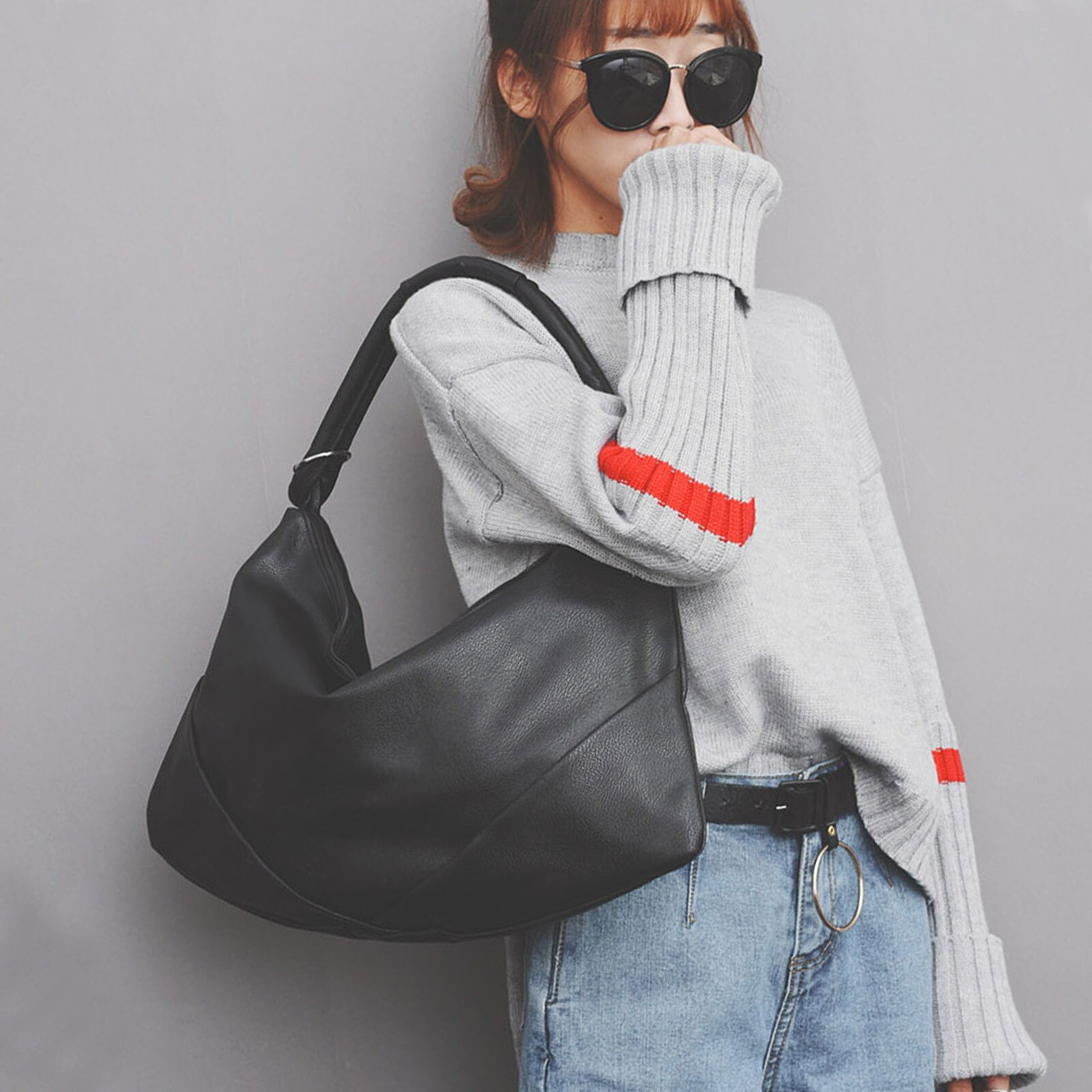 手提包 韓國時尚皮革水餃包肩背包【O3226】☆雙兒網☆ 0