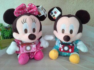 ~*My 71*~     絨毛娃娃  7.5吋 相機 米奇 米妮 玩偶 迪士尼 娃娃 兒童 玩具 情人 禮物 吊飾