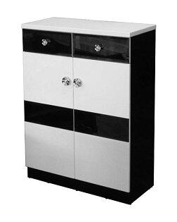 【尚品家具】784-04 山茶花黑白 2.7尺鞋櫃/玄關/收納櫃~