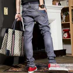 DITION 口袋折耳鉛筆牛仔褲-原色3款 0