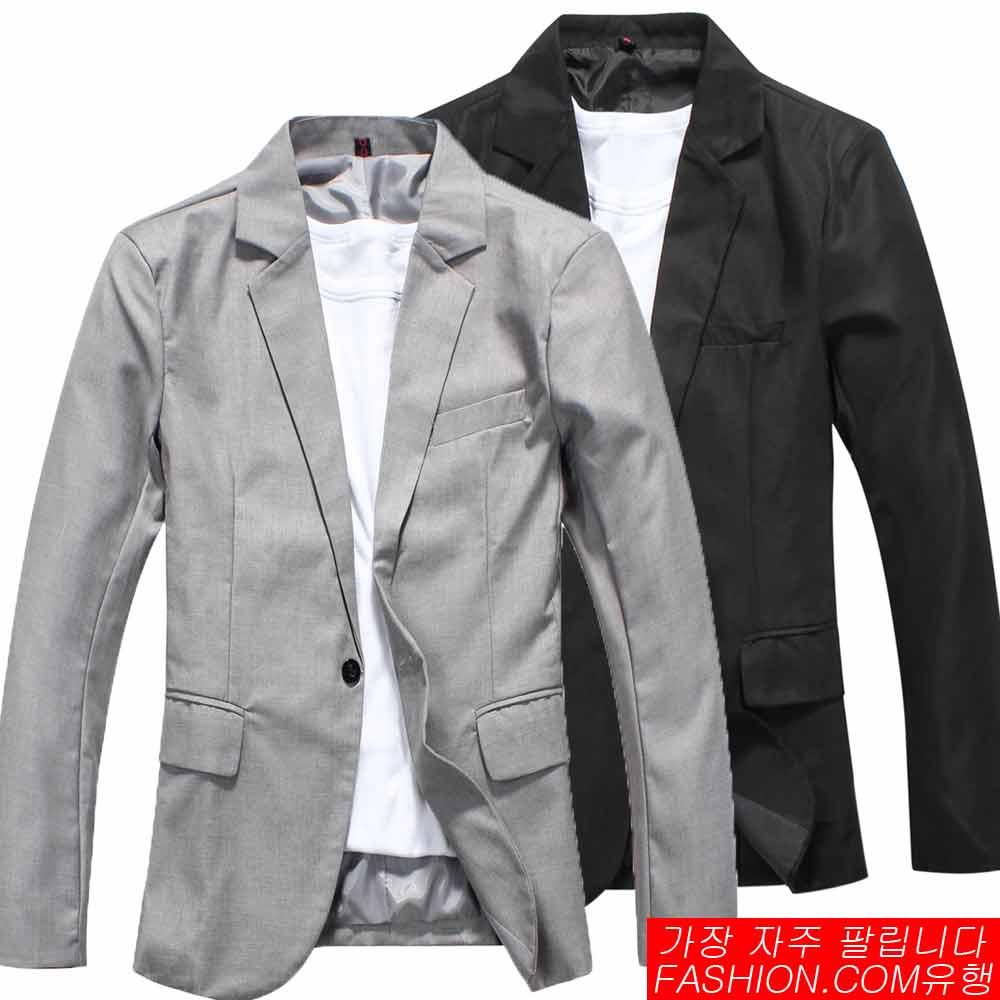 DITION 韓系劍領單釦合身西裝外套-共二色 0