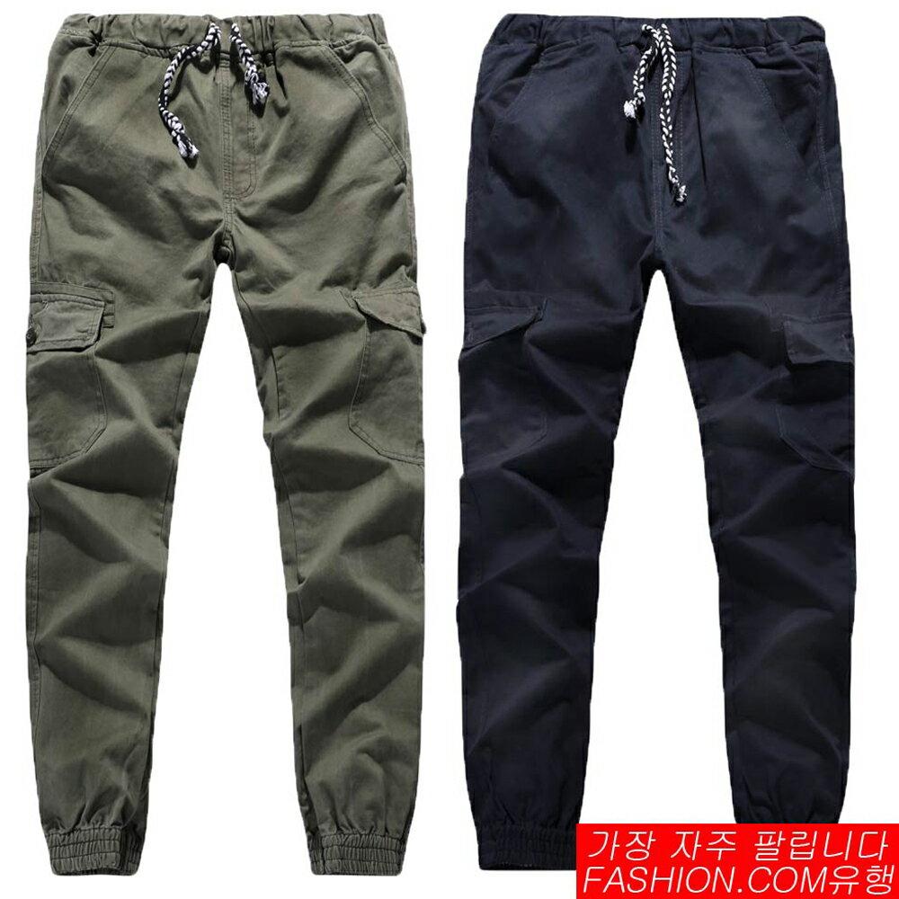 DITION 潮流穿搭上蓋口袋縮口工作褲-共三色 0