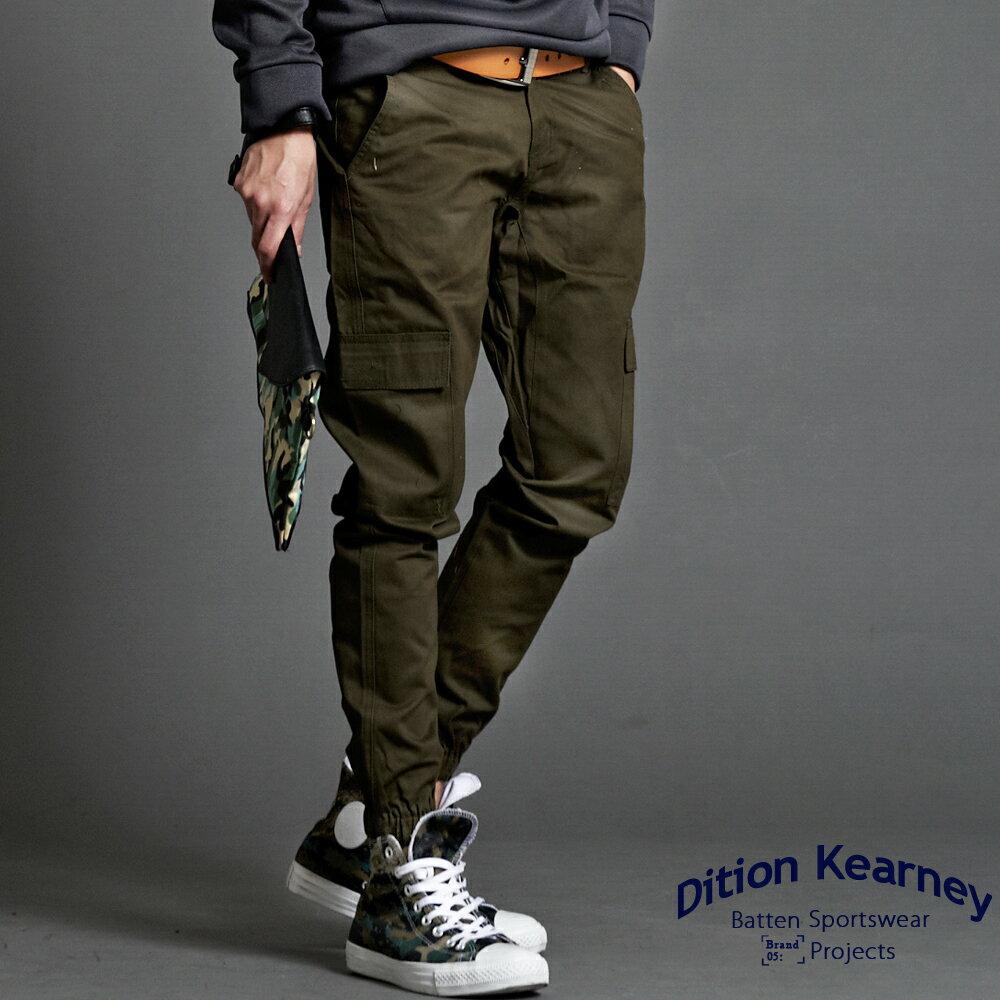 DITION  機能縮口JOGGER彈力側口袋工作褲 慢跑褲 0