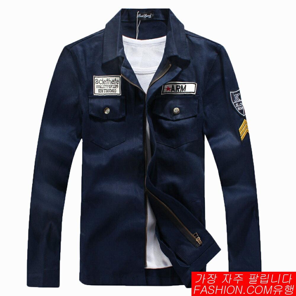 DITION 龐克軍裝ARMY布章立領襯衫式外套-共三色 0