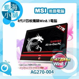 MSI微星 AG270 27型 頂級3K面板 i7四核獨顯Win8.1液晶電腦 AG270 2QC 3K-004TW -售完為止