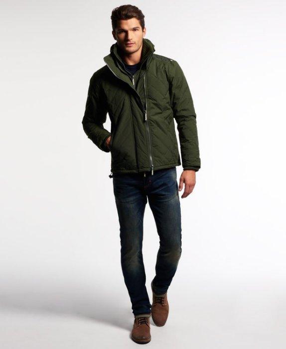 [男款] 英國代購 極度乾燥 Superdry Quilted Arctic Windcheater 男士 絎縫防風衣夾克 森林綠 2